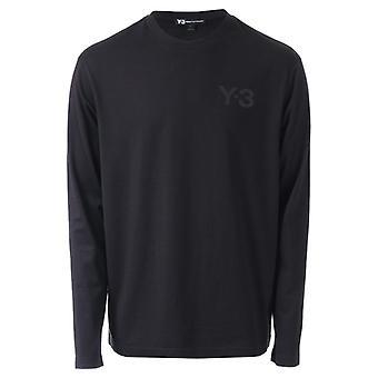 Men's Y-3 Classic Logo Langarm T-Shirt in schwarz
