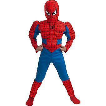 Klassieke Spiderman spier kind kostuum