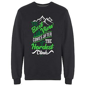 The Best View Slogan Sweatshirt Men's -Bild av Shutterstock