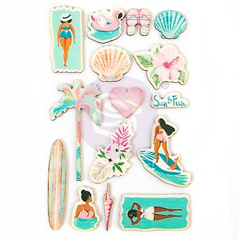 Prima markedsføring surfebrett tre klistremerker
