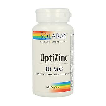 OptiZinc 60 vegetable capsules of 30mg