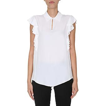 Boutique Moschino 021958370002 Dames's White Acetaat Top