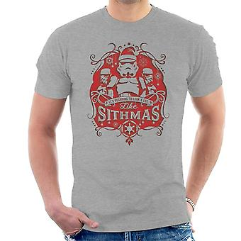 Star Wars Christmas Stormtrooper Sithmas Men's T-Shirt