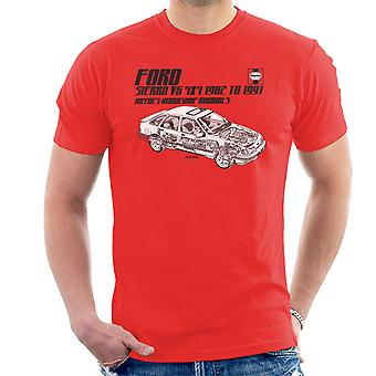 Haynes proprietários Workshop Manual 0904 Ford Sierra V6 t-shirt 4x4 preto masculina