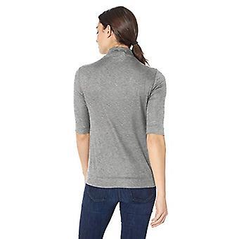 Leeuwerik & Ro Women's Elbow Length Sleeve Light Weight Turtleneck, Gray, X-Small