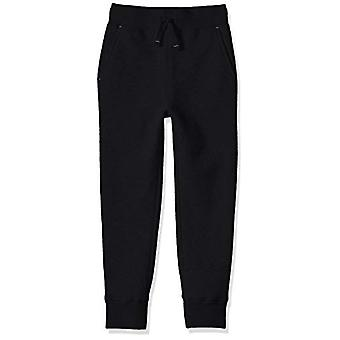Essentials Little Boys' Fleece Jogger Sweatpant, Black, S