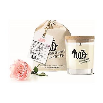 Large natural rose scented candle 40h 200 g