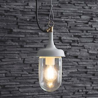 Lumière extérieure de pendentif de port de jardin de commerce dans le blanc de lily