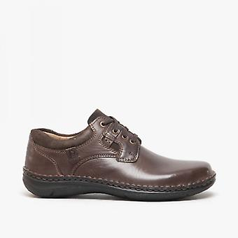 Josef Seibel Anvers 36 Mens Leather Wide Fit Shoes Brown