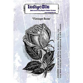 Indigoblu Vintage Rose A6 rubberstempel