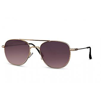 Sunglasses Unisex panto full-edged cat. 3 gold/violet