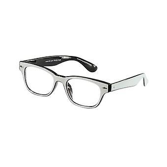 Reading Glasses Unisex Le-0146H Fashion Black/White Strength +2.50