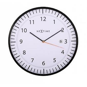 NeXtime 3058wi Quick [Ø35 cm, Wit/ Zwart]