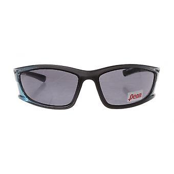 sportzonnebril unisex turquoise/zwart met grijze lens