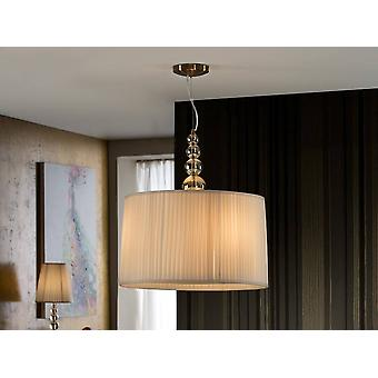 3 Light Round Crystal Ceiling Pendentif Champagne, E27