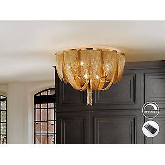 10 Licht dimbaar flush plafondlicht met afstandsbediening Nikkel, G9