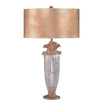 Elstead Bienville - 1 Lampe de table légère Or, Argent, E27