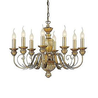Ideale Lux Dora - 8 Light Chandelier Antique Brass Finish, E14