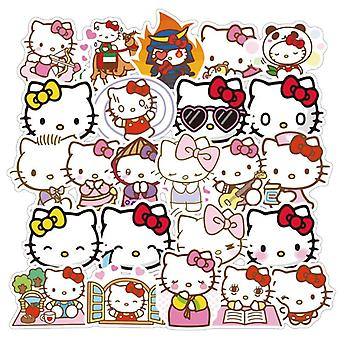 100pcs Hello Kitty Graffiti Adesivi Stick Skateboard Moto Trolley Scatola Adesivi Per Bambini Cartoon Adesivi