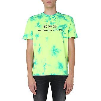 Diesel A002810waxp5isa Men's Light Blu/green Puuvilla T-paita