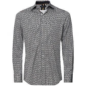 Guide London Slim Fit Geometric Print Shirt