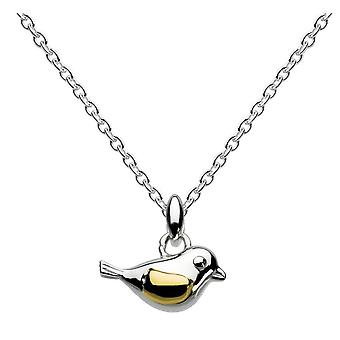 Dew Sterling Silver Birdie With Gold Plate Pendant 9009GD014