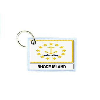 Tür tür schlüssel schlüssel schlüssel drucken doppel-face flagge usa rhode island