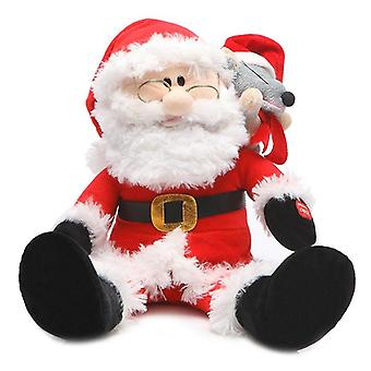 Electronic Stuffed Santa Claus Plush Toy