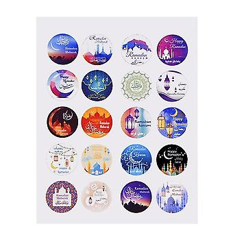 Ramadan Eid Mubarak Decorations Paper Sticker, Label Seal Sticker, Halloween