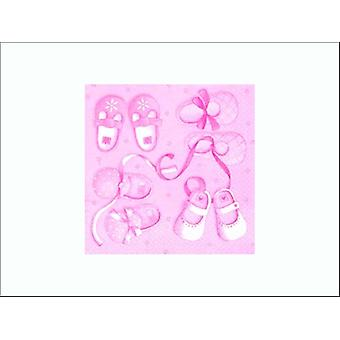Anniversary House Napkins 3 Ply It's A Girl x 20 PJ378419