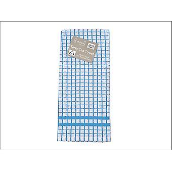 Le Chateau Textiles Terry Tea Towel Blue/ White Check HT28