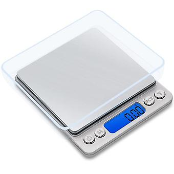 Digitaalinen ruostumattoman teräksen tarkkuusvaa'at Mini Pocket Electronic Balance