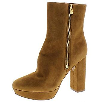 Michael Michael Kors Women's Shoes Frenchie Platform Bootie Leather Closed To...
