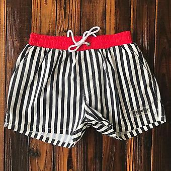 Desmiit Swimwear Men Swim Shorts, Mens Swimming Trunks Striped Swimsuit