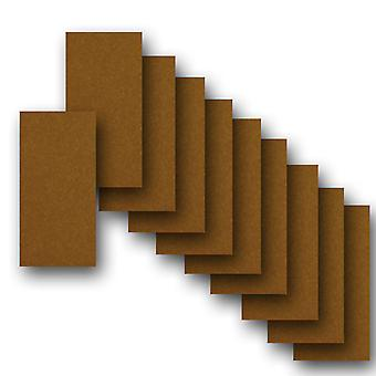 10 Bronze Pearlised Card Inserts 180 x 128