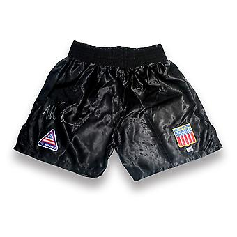 Mike Tyson Signed Boxing Shorts
