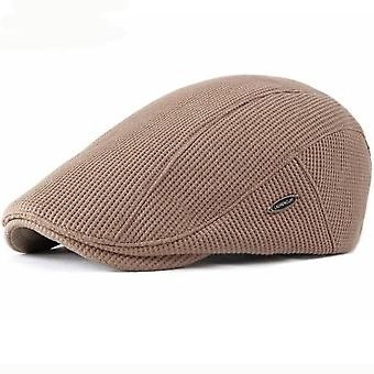 Beret Cap New Autumn Winter Newsboy Flat Cap High Quality Solid Knitted Hat