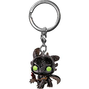 How to Train Your Dragon Toothless Pocket Pop! Keychain