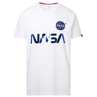 Alpha Industries 17850190 Männer's weiße Baumwolle T-shirt