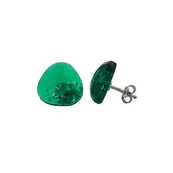 Nasta korvakorut vihreä läpinäkyvä 14mm
