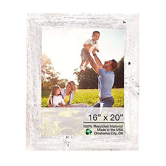 16x20 Rustic White Washed  Picture Frame