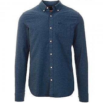 Superdry Classic University Oxford L/S Shirt Navy Marl 97T
