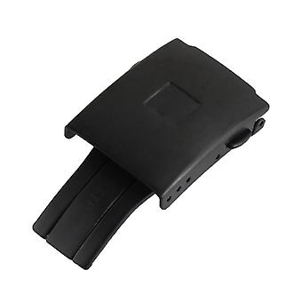 Stříbrná černá pevná nerezová ocel nasazení nastavitelná spona spona, guma