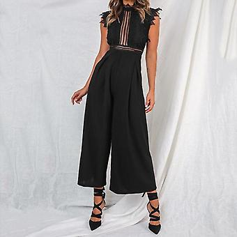 Sexy Sleeveless Backless Ruffled Jumpsuit - Autumn Romper Casual Overalls