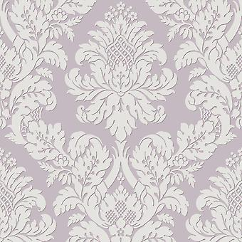 Pear Tree Lilac Glitter Damask