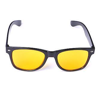 Unisex Yellow Lenses Night-vision Driving Glasses