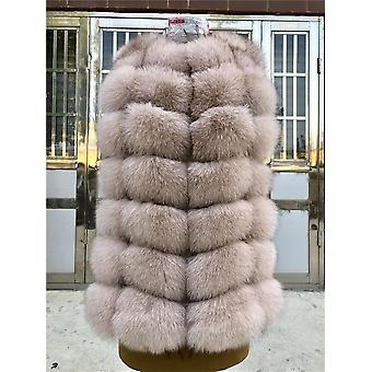 Mode Natural Real Fox Fur Vest Jacket Femmes Short Sleeveless Winter Warm