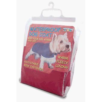Pennine Waterproof Fur Lined Red Dog Coat