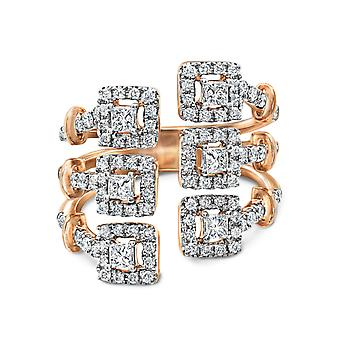 Ring Trilogy Love 18K Gold and Diamonds