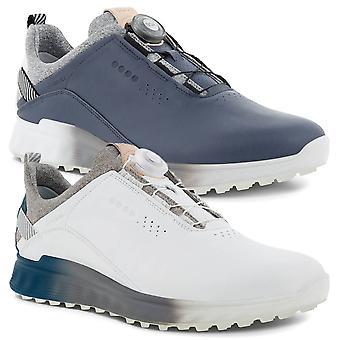 Ecco Mens 2021 Golf S-THREE Spikeless Breathable Waterproof Leather Scarpe da golf